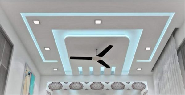 ceiling designs for hall with one fan