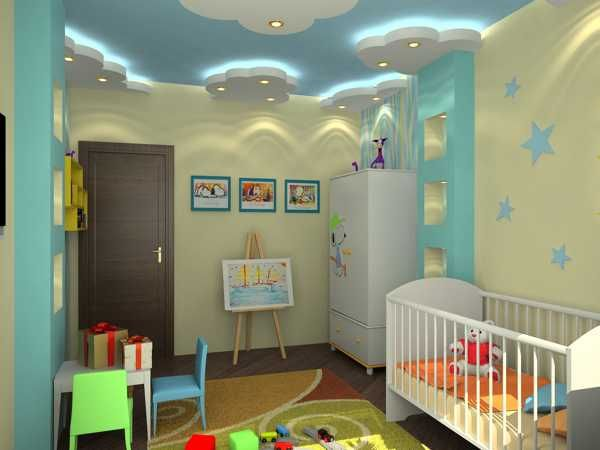 false ceiling design's for children's bedroom