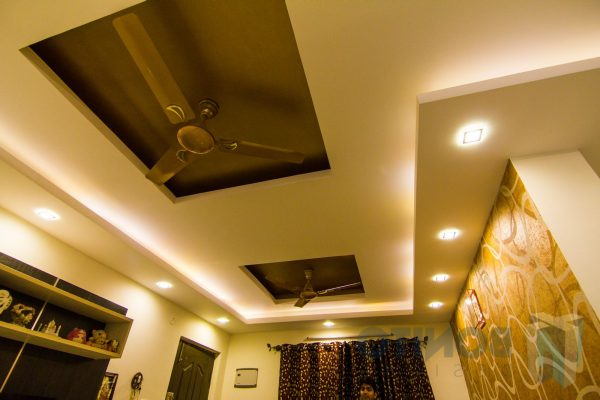 false ceiling designs for hall with two fans 2