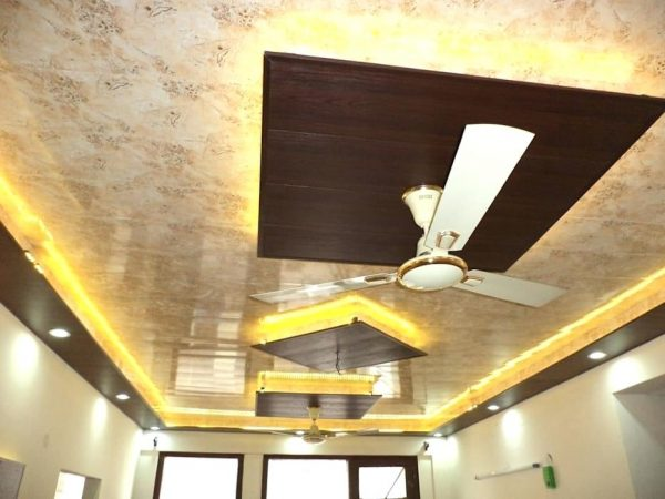 false ceiling designs for hall with two fans 3