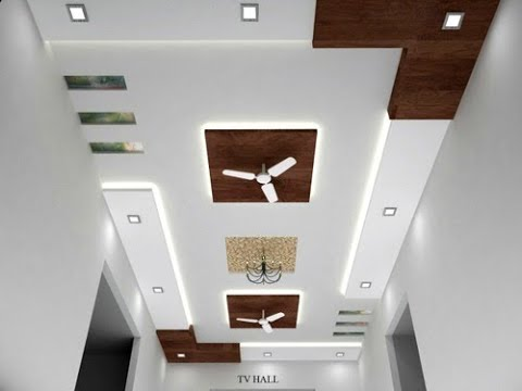false ceiling designs for hall with two fans