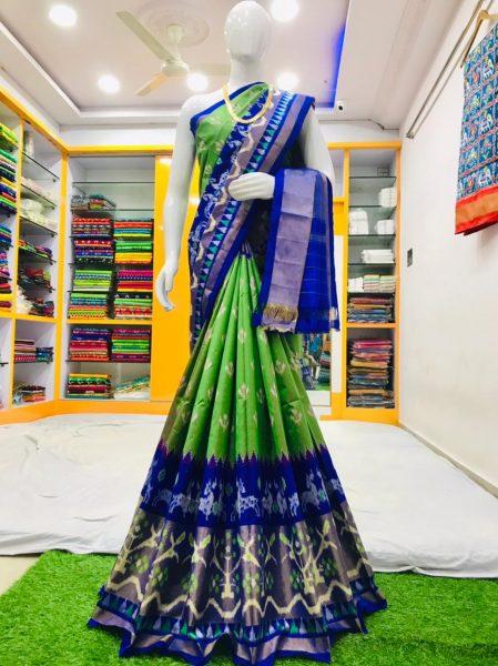 18 Latest Ikkat Silk Sarees With Blouse (1)
