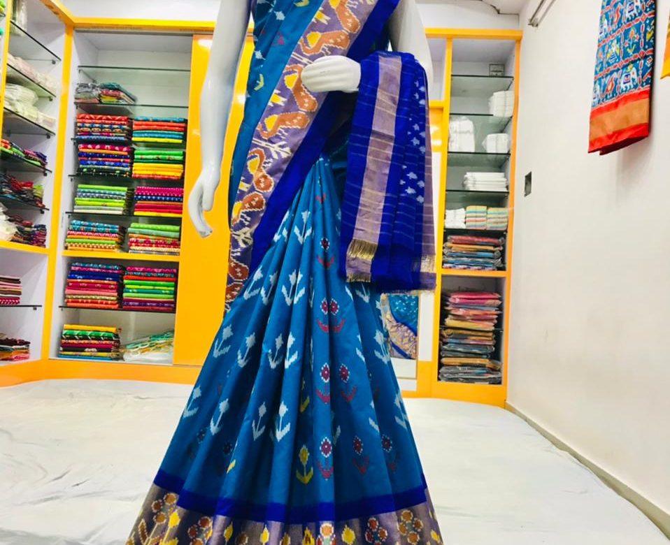18 Latest Ikkat Silk Sarees With Blouse (11)