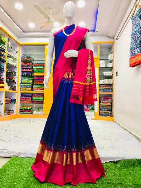 18 Latest Ikkat Silk Sarees With Blouse (12)