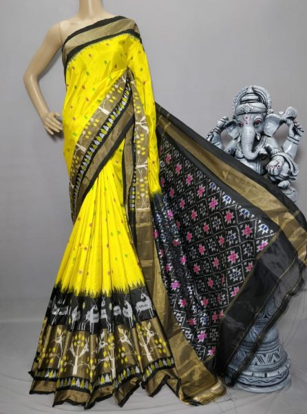 18 Latest Ikkat Silk Sarees With Blouse (13)