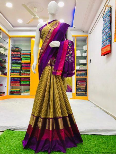 18 Latest Ikkat Silk Sarees With Blouse (14)