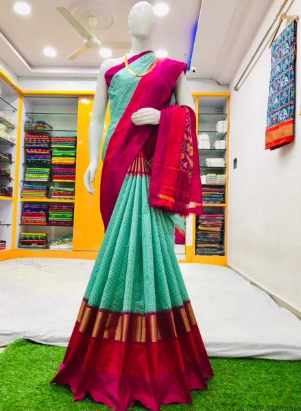 18 Latest Ikkat Silk Sarees With Blouse (15)