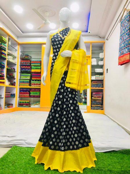 18 Latest Ikkat Silk Sarees With Blouse (16)