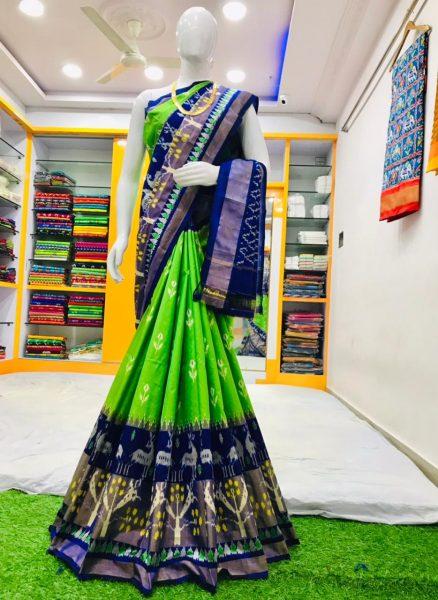 18 Latest Ikkat Silk Sarees With Blouse (18)
