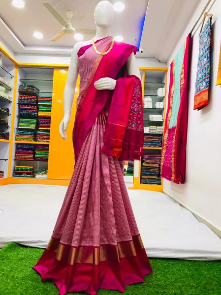 18 Latest Ikkat Silk Sarees With Blouse (2)