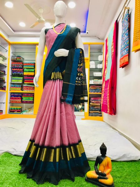 18 Latest Ikkat Silk Sarees With Blouse (3)