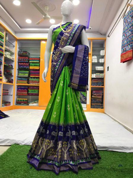 18 Latest Ikkat Silk Sarees With Blouse (4)