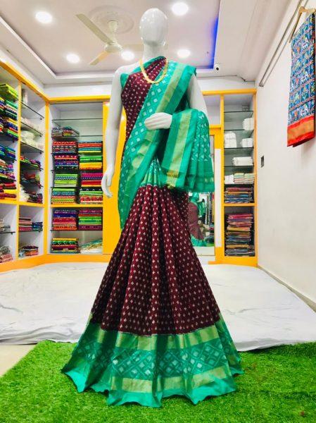 18 Latest Ikkat Silk Sarees With Blouse (5)