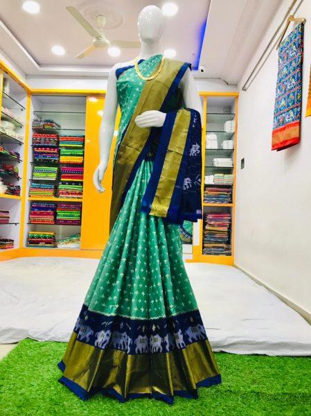 18 Latest Ikkat Silk Sarees With Blouse (7)