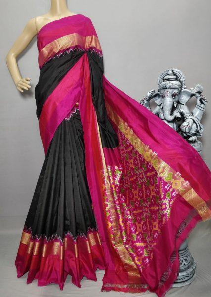 18 Latest Ikkat Silk Sarees With Blouse (8)