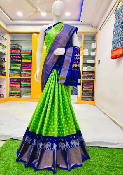 18 Latest Ikkat Silk Sarees With Blouse (9)