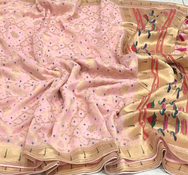 Banarasi Khaddi Georgettebanini Weaving Sarees (1)