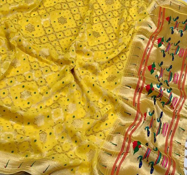 Banarasi Khaddi Georgettebanini Weaving Sarees (10)
