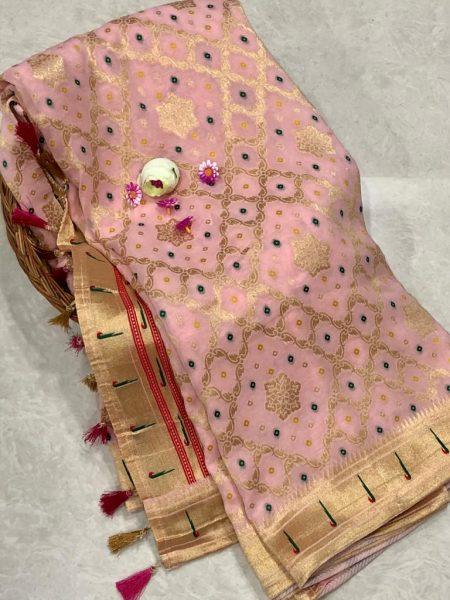 Banarasi Khaddi Georgettebanini Weaving Sarees (2)