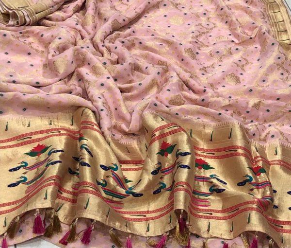 Banarasi Khaddi Georgettebanini Weaving Sarees (3)