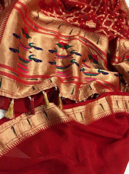 Banarasi Khaddi Georgettebanini Weaving Sarees (4)