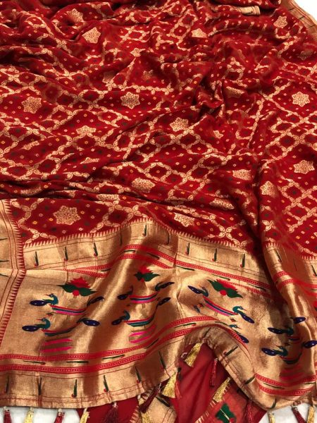 Banarasi Khaddi Georgettebanini Weaving Sarees (5)