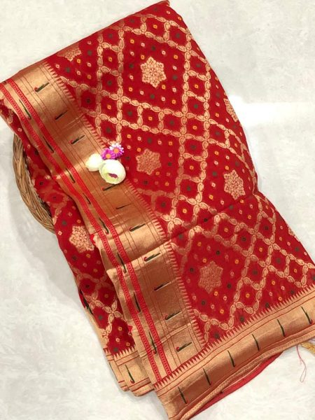Banarasi Khaddi Georgettebanini Weaving Sarees (6)