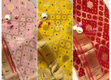 Banarasi Khaddi Georgettebanini Weaving Sarees (7)