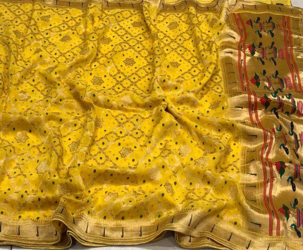 Banarasi Khaddi Georgettebanini Weaving Sarees (8)