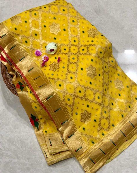 Banarasi Khaddi Georgettebanini Weaving Sarees (9)