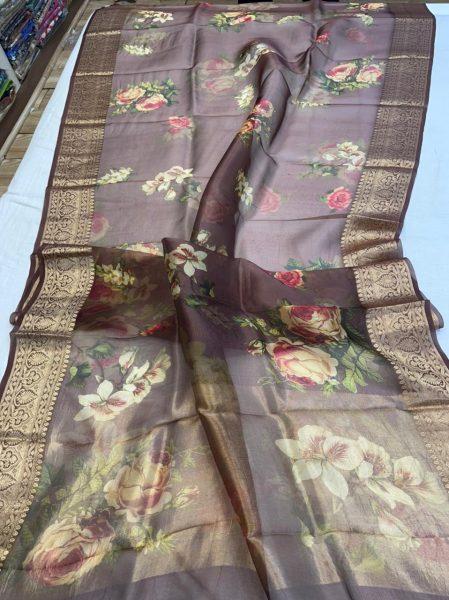 Pure Kora Floral Sarees (6)