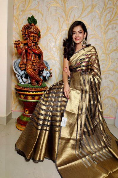 Banaras Tissue Organza Sarees With Blouse (3)