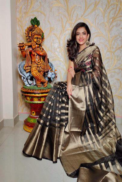 Banaras Tissue Organza Sarees With Blouse (4)