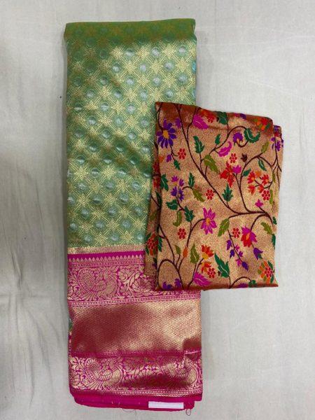 Free Size Lehangas With Paithani Blouse (10)