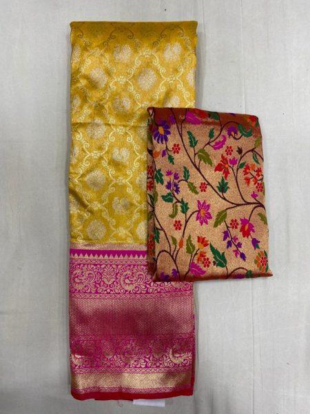 Free Size Lehangas With Paithani Blouse (2)