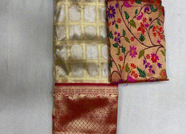 Free Size Lehangas With Paithani Blouse (3)