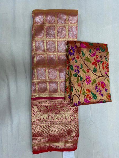 Free Size Lehangas With Paithani Blouse (4)