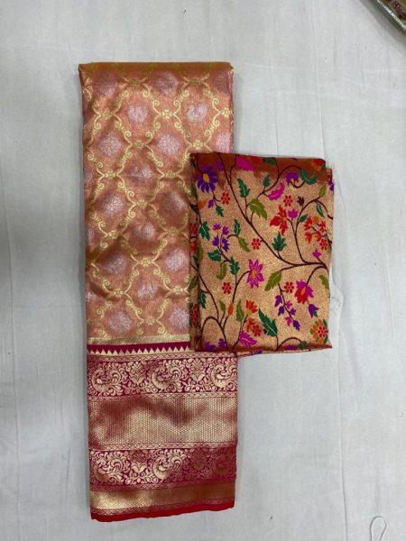 Free Size Lehangas With Paithani Blouse (6)