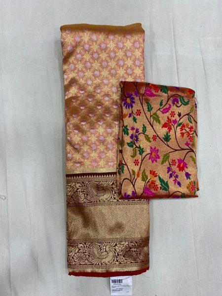 Free Size Lehangas With Paithani Blouse (7)