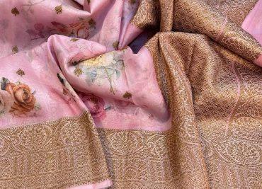 Latest Handloom Kora Silk Sarees With Blouse (16)