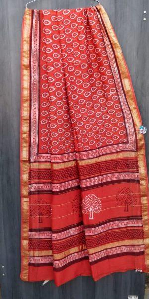Latest Maheshwari Silk Sarees With Blouse (1)