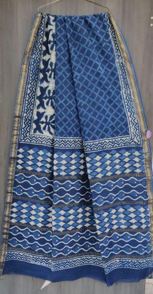 Latest Maheshwari Silk Sarees With Blouse (15)