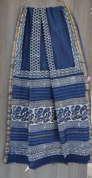 Latest Maheshwari Silk Sarees With Blouse (19)