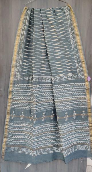 Latest Maheshwari Silk Sarees With Blouse (27)