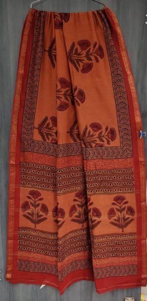 Latest Maheshwari Silk Sarees With Blouse (28)