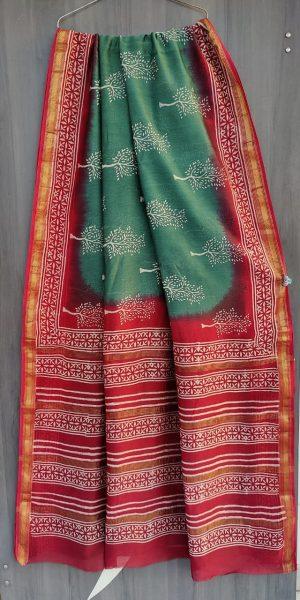 Latest Maheshwari Silk Sarees With Blouse (39)