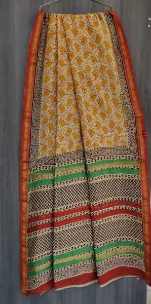 Latest Maheshwari Silk Sarees With Blouse (4)