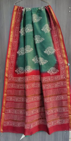 Latest Maheshwari Silk Sarees With Blouse (40)