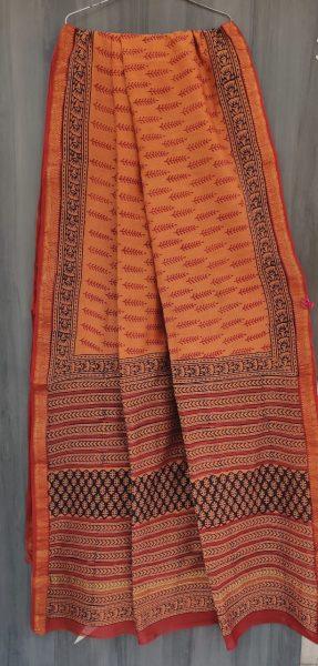 Latest Maheshwari Silk Sarees With Blouse (45)