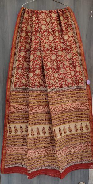 Latest Maheshwari Silk Sarees With Blouse (47)